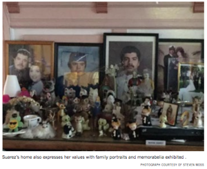 Suarez's home also expresses her values with family portraits and memorabilia exhibited . PHOTOGRAPH COURTESY OF STEVEN MOSS SAN FRANCISCO CENTER FOR THE BOOK PRESENTS THE 12TH ANNUAL D A O SAN FRANCISCO CENTER FOR THE BOOK PRESENTS HOLIDAY BOOK ARTS R