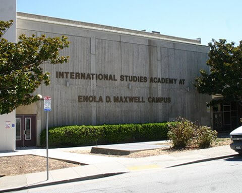 The now-closed International Studies Academy at 655 DeHaro Street. Photo: MICHAEL IACUESSA