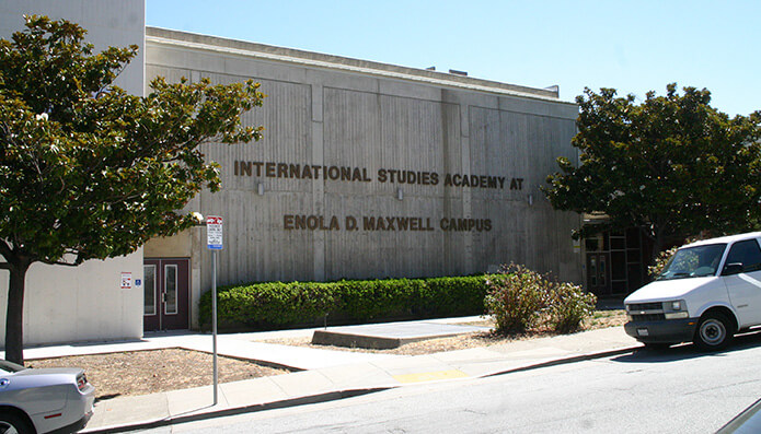 The now-closed International Studies Academy at 655 DeHaro Street. Photo: MICHAEL IACUESSA