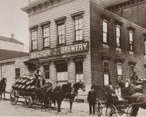 Photo: Anchor Brewery on Russian Hill circa 1906.