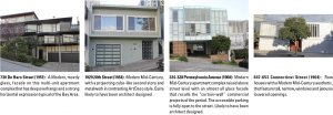 Images of Potrero Hill architecture: 1951 to 1964