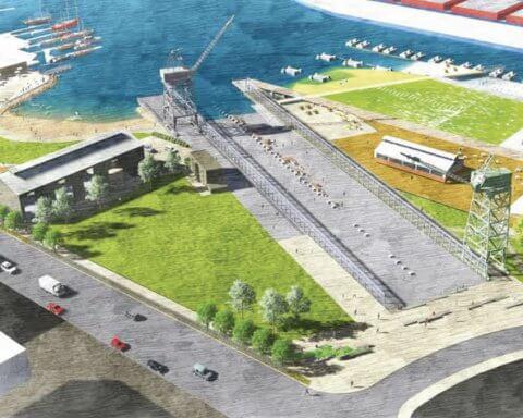 Crane Cove Park design by AECOM. Photo: Courtesy of Port of San Francisco