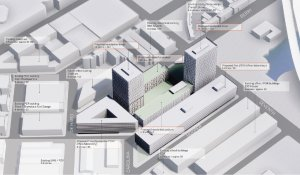 Photo: Model of Recology's proposed new development. Courtesy of Recology and Skidmore, Owings & Merrill LLP