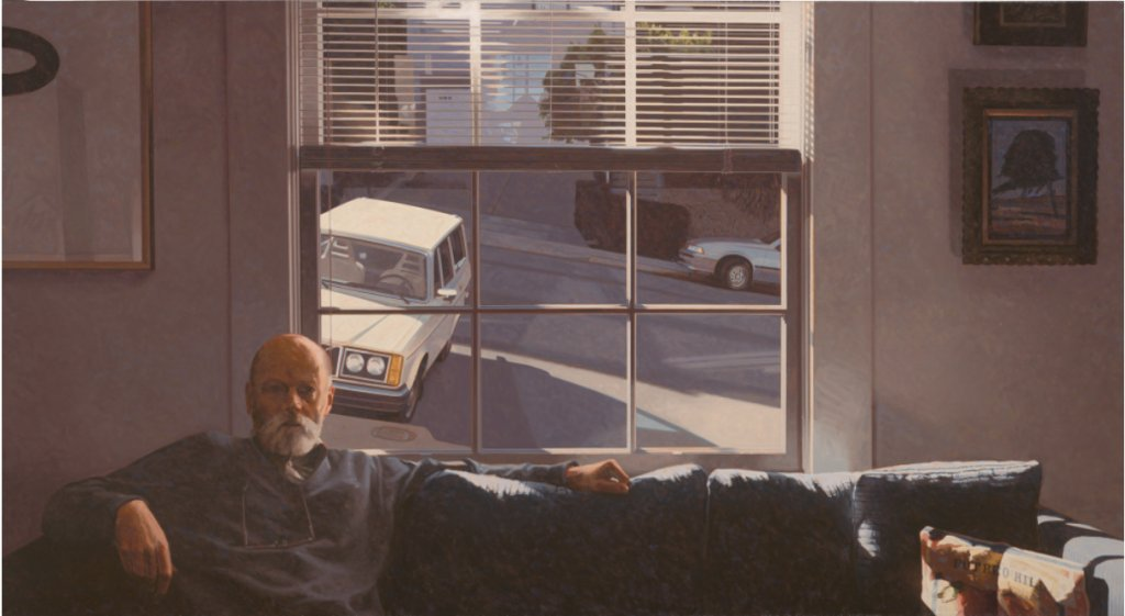 Robert Bechtle, Potrero Hill, 1996, Oil on canvas. SFMoMA collection; Ruth Nash Fund purchase. Copyright: Robert Bechtle; Image: Ben Blackwell